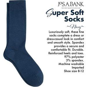 Jos. A. Bank Super Soft Navy Socks